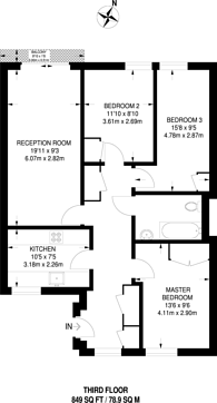 Large floorplan for Pioneer Close, Poplar, E14