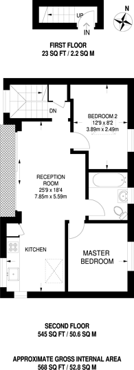 Large floorplan for Old Sailors House, Limehouse, E14