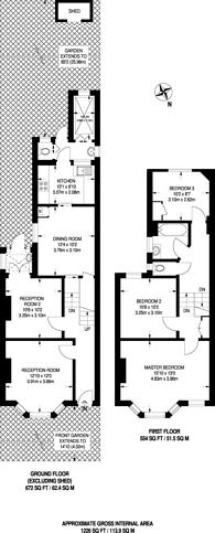 Large floorplan for Egerton Road, South Norwood, SE25