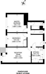 Large floorplan for Ernest Street, Stepney, E1