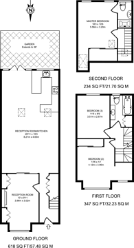 Large floorplan for Florence Road, Wimbledon, SW19