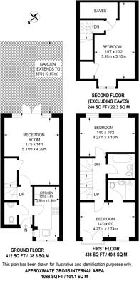 Large floorplan for Epsom Road, Merrow, GU1