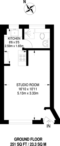 Large floorplan for Tudor Close, Brixton Hill, SW2