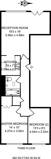 Large floorplan for Middlesex Street, Shoreditch, E1