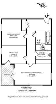 Large floorplan for Newton Court, Axio Way, Bow, E3