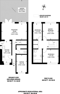 Large floorplan for Howard Close, New Southgate, N11