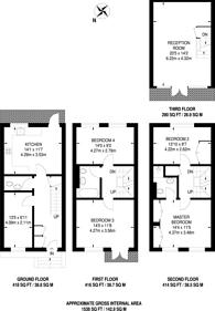 Large floorplan for St Davids Square, Canary Wharf, E14