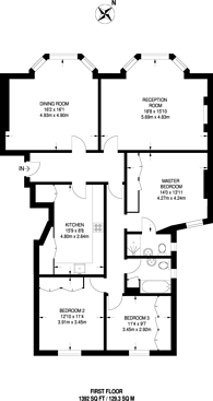 Large floorplan for New Cavendish Street, Marylebone, W1G