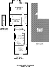 Large floorplan for Tenham Avenue, Telford Park, SW2