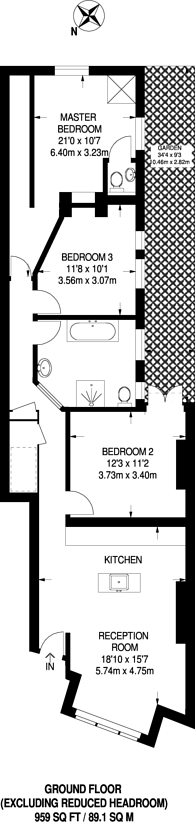 Large floorplan for Dagnan Road, Balham, SW12