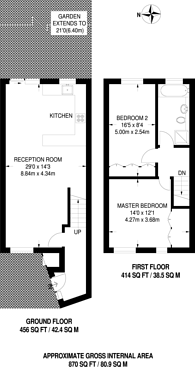 Large floorplan for Cowper Road, North Kingston, KT2