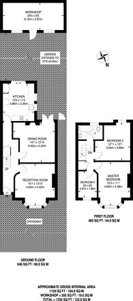 Large floorplan for Graham Avenue, Mitcham, CR4