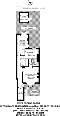 Large floorplan for Tabley Road, Tufnell Park, N7