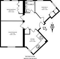 Large floorplan for East Road, Wimbledon, SW19