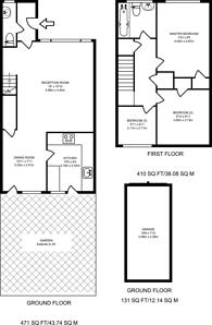 Large floorplan for Dumbleton Close, Kingston, KT1
