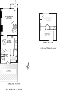 Large floorplan for Manor Cottages Approach, East Finchley, N2