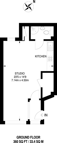 Large floorplan for Cambridge Road, Kingston, KT1