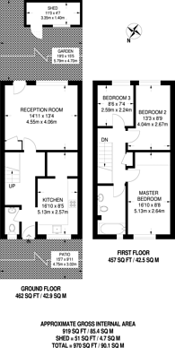 Large floorplan for Hurry Close, Stratford, E15