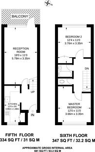 Large floorplan for Burdett Road, Poplar, E14