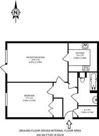 Large floorplan for Hoxton Square, Shoreditch, N1
