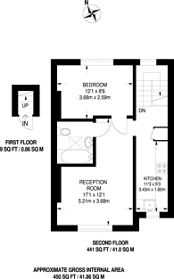 Large floorplan for Rectory Grove, Croydon, CR0