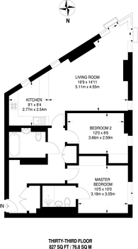 Large floorplan for Saffron Square, Croydon, CR0