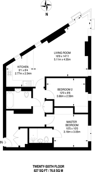 Large floorplan for Saffron Square, Croydon, CR0