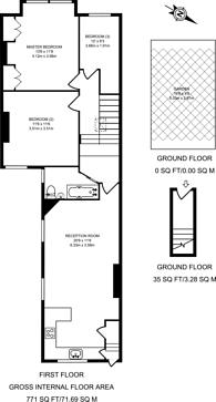 Large floorplan for Dunraven Road, Shepherd's Bush, W12