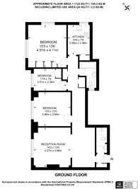 Large floorplan for Hall Road, St John's Wood, NW8