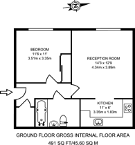 Large floorplan for Oakham House, Acton, W3