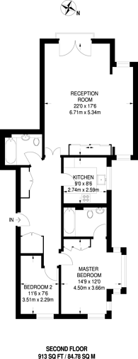 Large floorplan for Admiral Walk, Maida Vale, W9