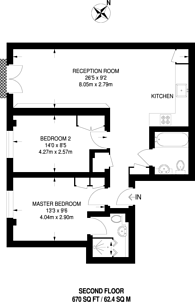 Large floorplan for Regency Street, Westminster, SW1P