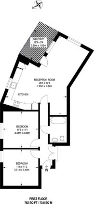 Large floorplan for Lockton Road, Ladbroke Grove, W10