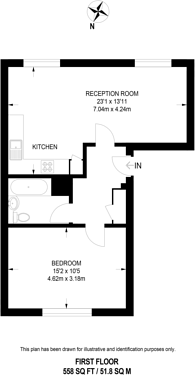 Large floorplan for Enmore Road, South Norwood, SE25