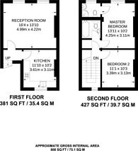 Large floorplan for Nutford Place, Marylebone, W1H