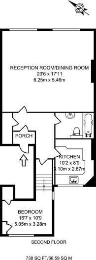 Large floorplan for Randolph Avenue, Maida Vale, W9