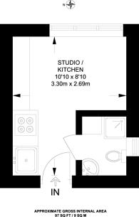 Large floorplan for Denbigh Street, Pimlico, SW1V