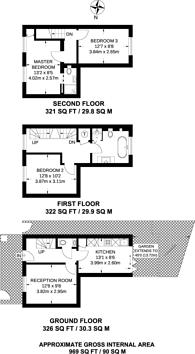 Large floorplan for Grove Road, Poet's Corner, W3