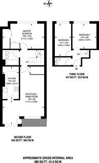 Large floorplan for Cornwall Crescent, Notting Hill, W11