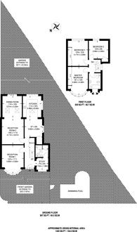 Large floorplan for Woodlands Avenue, Worcester Park, KT4