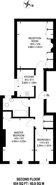 Large floorplan for South Ealing Road, South Ealing, W5
