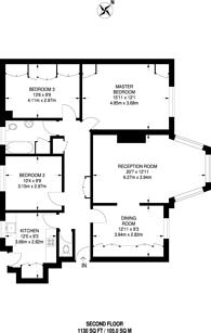 Large floorplan for Highlands Heath, Putney Heath, SW15