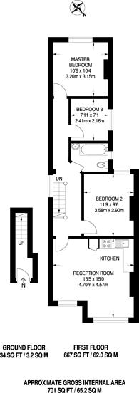 Large floorplan for Park Road, South Norwood, SE25