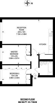 Large floorplan for St Dunstans Mews, Stepney, E1
