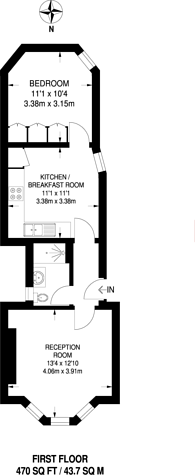 Large floorplan for Kingwood Road, Fulham, SW6