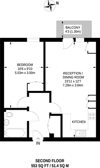 Large floorplan for Canning Road, Wealdstone, HA3