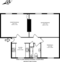 Large floorplan for Balfe Street, King's Cross, N1