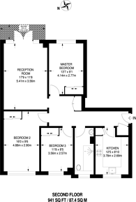 Large floorplan for Fairfax Road, South Hampstead, NW6