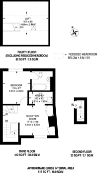 Large floorplan for Hill Rise, Richmond, TW10