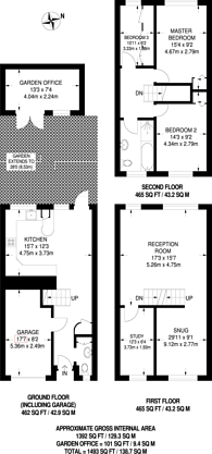 Large floorplan for Westgate Road, Beckenham, BR3